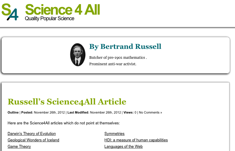 Russell's Article