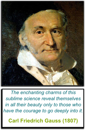 Gauss' Quote