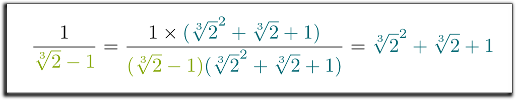 Cube Root in Denominator Solution