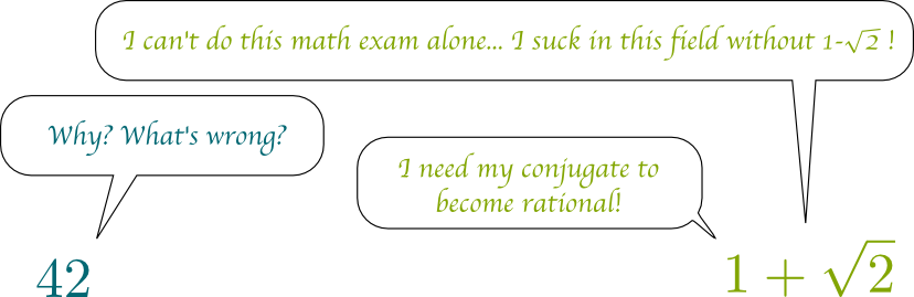 Conjugates and Rationals